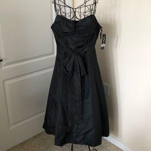 NWT Onyx Black Tea Length Dress Size 16
